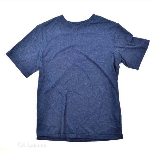 Size 7 Cherokee Boys Basic T-Shirt with Pocket Heather Blue